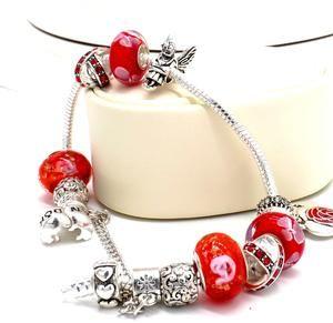 Pandora Red Double Heart Pendant set sale